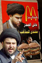 Muqtada al-Sadr denounced the attack on a Hezbollah McDonald's today.