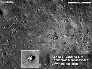 Today moon hoaxers and birthers suggested the LRO pictures are faked.