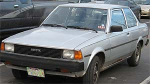 Goober's 83 Toyota was refused collector plates today, probably a good call.